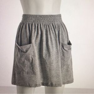 American Apparel Grey Pocket Skirt